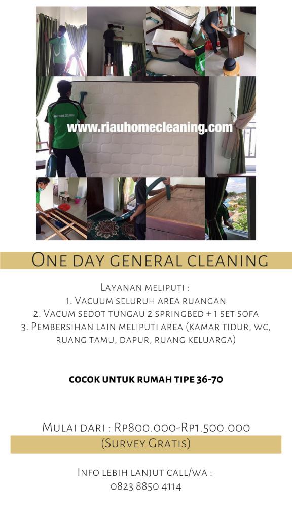 Biaya one day general cleaning di Batam